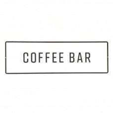 Magnolia Embossed Metal Coffee Bar Sign